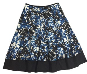 Charter Club Floral Blue Black Skirt