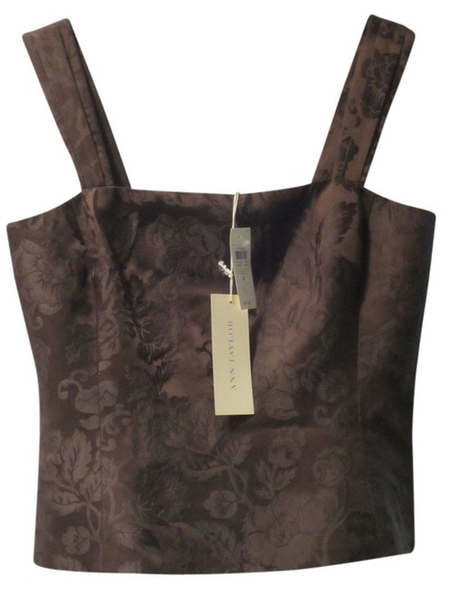 Preload https://img-static.tradesy.com/item/12015652/ann-taylor-silk-etched-floral-cami-brown-top-0-1-650-650.jpg