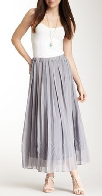 YASB Necessary Objects Long Natural Detail Design Pattern Polyester Day Holiday Night Evening Winter Spring Summer Fall Job Maxi Skirt Grey
