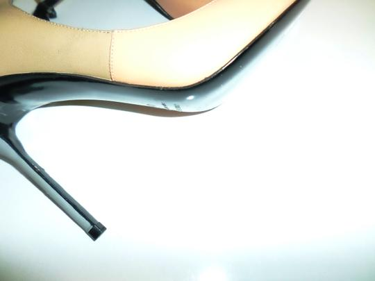Pierre Hardy Leather Peep Toe Padded Ankle Strap Contrast Colorblock PEACH MULTI Pumps