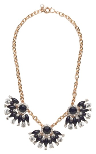 Preload https://img-static.tradesy.com/item/12016642/jcrew-navy-clear-stones-and-vintage-gold-necklace-0-1-540-540.jpg
