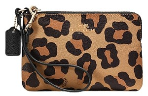Coach New With Tags Brown Wristlet in Imitation Gold/Neutral