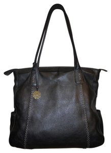Franklin Covey Leather Tote in grey
