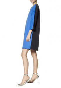 Lisa Perry Silk Lined Colorblocked Sale Coat