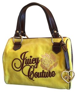 Juicy Couture Satchel in Yellow And Brown
