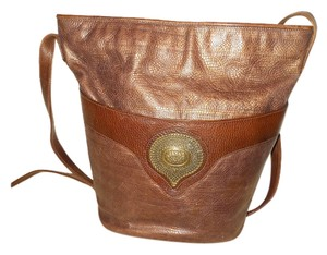 Susan Gail Vintage Leather Bucket Cross Body Shoulder Bag