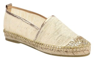 Jimmy Choo Out Everywhere Neutral /GAYA MESH GOLD Flats