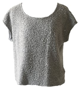 Ella Moss Anthropologie Sequin Boucle T Shirt gray
