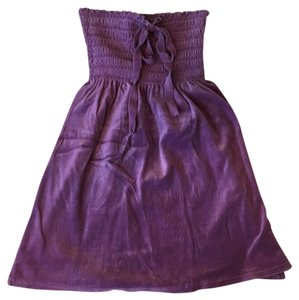 Juicy couture strapless velour dress short dress Purple on Tradesy
