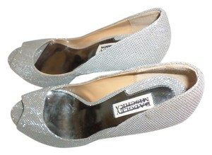 Badgley Mischka Metallic Silver Pumps