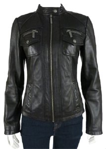 MICHAEL Michael Kors Leather Moto Motorcycle Jacket