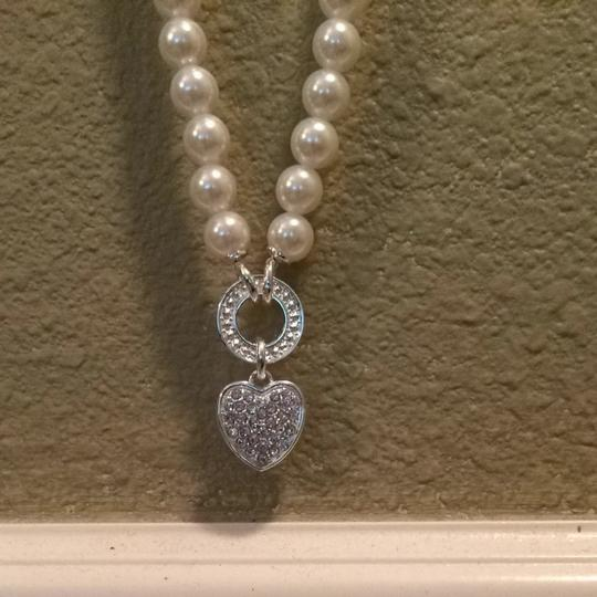 Other Faux Pearl With Rhinestone Heart