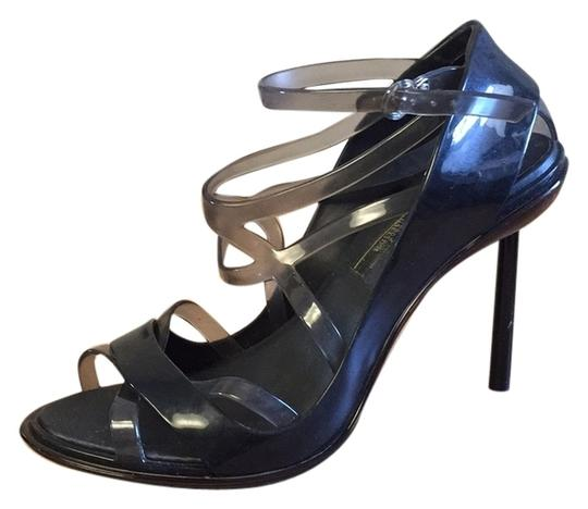 Melissa + Jean Paul Gaulthier Biodegradable Rubber Black and smoke grey Formal
