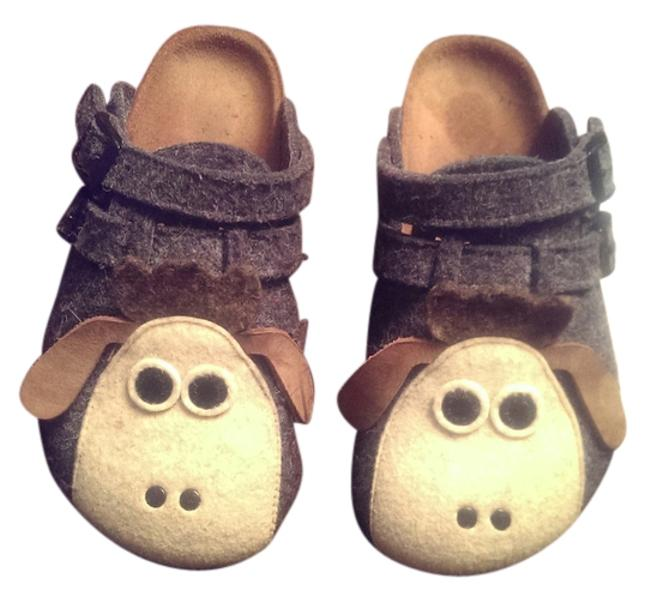Item - Grey with Lambs Birkie's Character Collection Mules/Slides Size US 4 Regular (M, B)