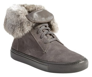 Vince Suede Sneaker Slip-on Fur Graphite Athletic