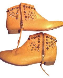Chio Spain Bootie Made Leather orange Boots