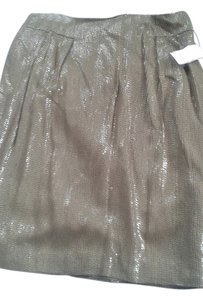 Carmen Marc Valvo Mini Skirt green with sequences