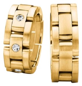 Boutique Europa Furrer Jacot Luxury Gold and Diamonds Band. Size 58. Switzerland