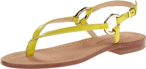 Diane von Furstenberg Dvf Cailin Green Leather Lime Sandals