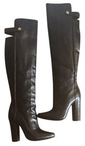 Alexander Wang Leather Over The Knee Runway Black Boots