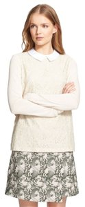 Tory Burch Top birch ivory white lace