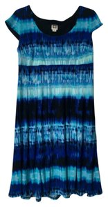 Anne Klein Blue Office Watercolor A-line Dress