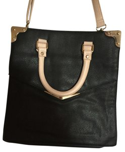 Kimchi Blue Interview Work Tote in Black and pink leather and gold hardware