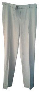 Akris Wool Belted Straight Pants Pale Beige