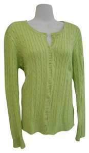 Eddie Bauer Spring Large 12 14 Cardigan Cotton Cottn Cotton Sweater