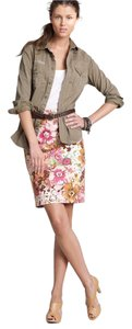 J.Crew Floral Pencil Summer Work Skirt Pink floral