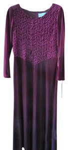 Jessica Howard Velvet Gown Wine Colored Longsleeve Dress