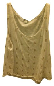Old Navy Top White with gold