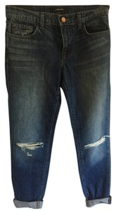 J Brand Slim Fit Boyfriend Cut Jeans-Distressed