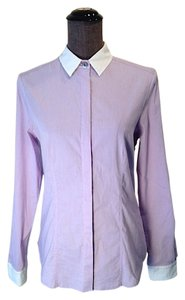 St. John Button Down Shirt Purple