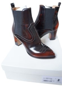 Maison Margiela Patent Leather Chunky Brown Boots