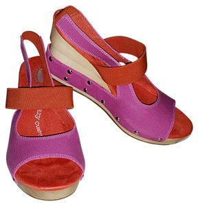 Dr. Scholl's Pinkish-Purple/Orange Color Block Wedges
