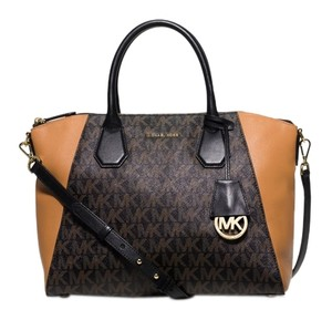 Michael Kors Campbell Satchel Large Peython Cross Body Bag