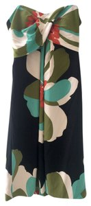 Nicole Miller Sleeveless Silk Floral Dress