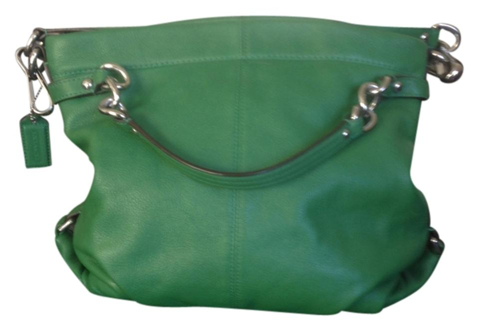 Coach Small Bucket Purse Kelly Green Leather Tote 51% off retail 2f0fd6bd81376