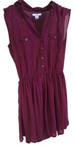 Bar III short dress Bordeaux on Tradesy