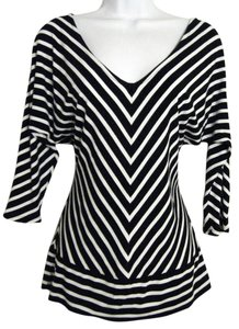 White House | Black Market V-neck Style Casual Striped Tunic
