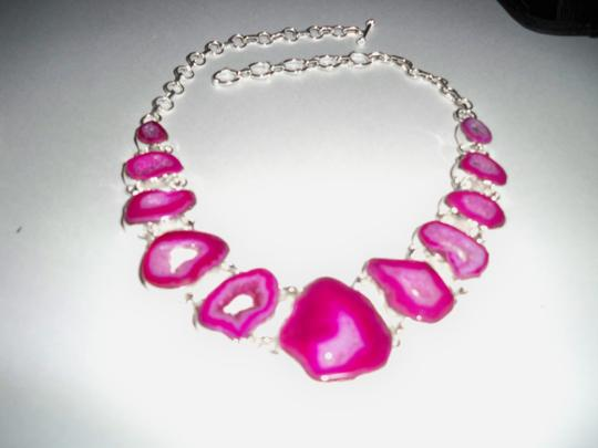 Other Botswana Agate Slice Druzy and .925 Sterling Silver Necklace Image 2