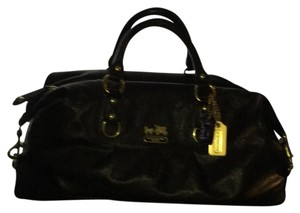 Coach Satchel in Black With Gold Hardware