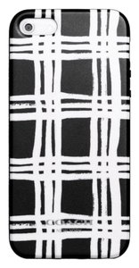 Coach Black & White Plaid iPhone 5 Molded Silicone Case Cover