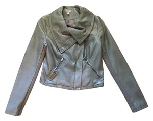 Cusp by Neiman Marcus Slate with a green tint Leather Jacket