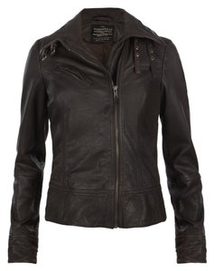 AllSaints Leather Sexy Blogger Favorite Bitter Brown Leather Jacket