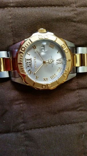 INVICTA Invicta Unisex 12852 Pro Diver Gold Dial Two Tone Watch with Crystal Accents