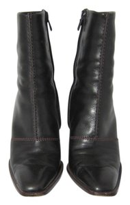 Tod's Leather Zippered Ankle Black Boots