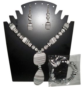 Amy's Treasure Box NWOT Zebra Jasper Fashion Jewelry Set still in the original bag