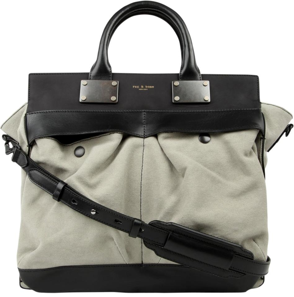 be7ef4348 Rag & Bone Large Pilot Taupe Leather and Canvas Tote - Tradesy